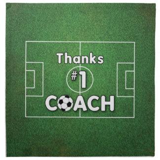 Thanks Soccer Coach Grass Field Napkin