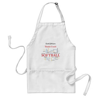 Thanks Softball Coach Words From Group, Team, Red Standard Apron