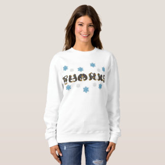 Thanks Thank You Penguin Winter Snowflake Holiday Sweatshirt