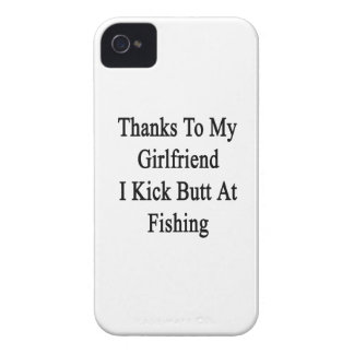 Thanks To My Girlfriend I Kick Butt At Fishing iPhone 4 Case-Mate Cases