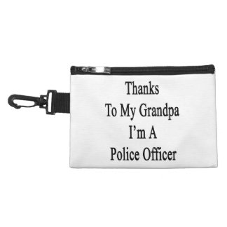 Thanks To My Grandpa I m A Police Officer Accessory Bag