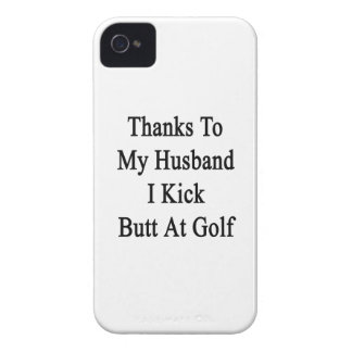 Thanks To My Husband I Kick Butt At Golf iPhone 4 Case-Mate Cases