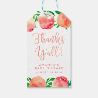 thanks y'all favor tags, peaches gift tag, Georgia Gift Tags