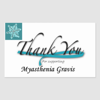 Thanks You For Supporting Myasthenia Gravis Rectangle Sticker