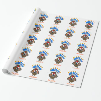 Thanksanukkah Thanksgivukkah  turkey menorah gift Wrapping Paper