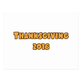 Thanksgiving 2016 postcard