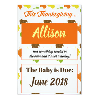 Thanksgiving 2017 Turkey Pregnancy Announcement