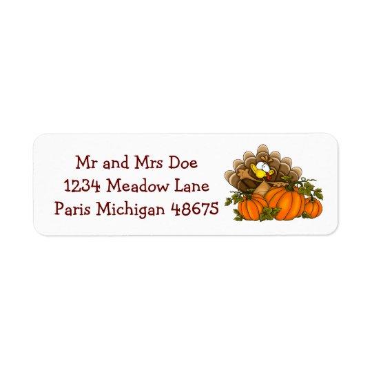 Thanksgiving Address Labels/Turkey