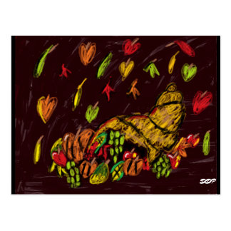 Thanksgiving art postcard