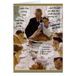 Thanksgiving At Grandma's Greeting Card