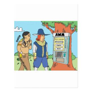 THANKSGIVING / ATM / FINANCIAL / BANKER gifts Postcard