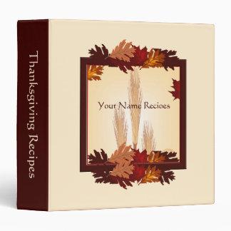 Thanksgiving Autum Harvest Design Recipe Binder