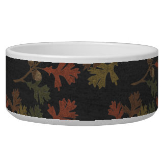 Thanksgiving Autumn Chalkboard Pattern Pet Food Bowls