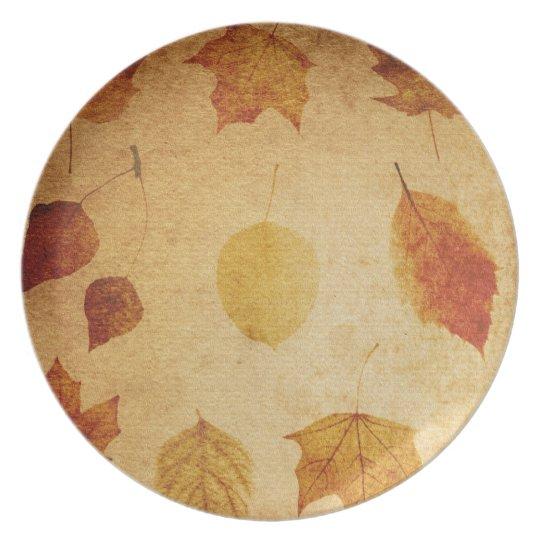 thanksgiving autumn dinner plate. plate