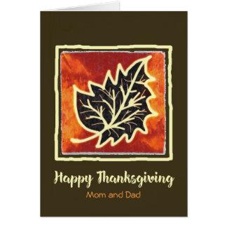 Thanksgiving Autumn Leaf Card for Mom & Dad