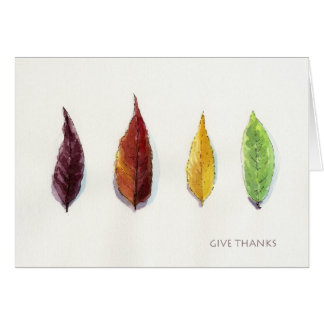 Thanksgiving Autumn Leaf Give Thanks Greeting Card