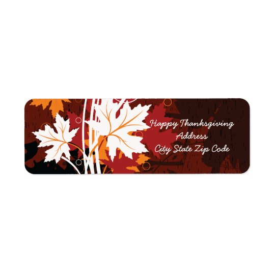 Thanksgiving autumn leaves-maple custom labels