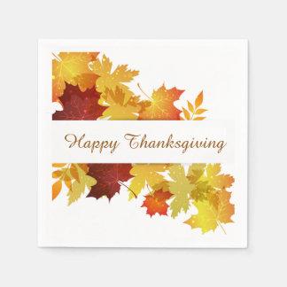 Thanksgiving Autumn Leaves Napkin Paper Napkins