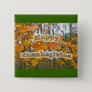 Thanksgiving Autumn Maple Foliage 2 Inch Square Button