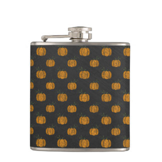 Thanksgiving Autumn Pumpkin Pattern Flasks