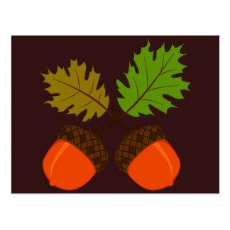 Thanksgiving Autumn Retro Postcard