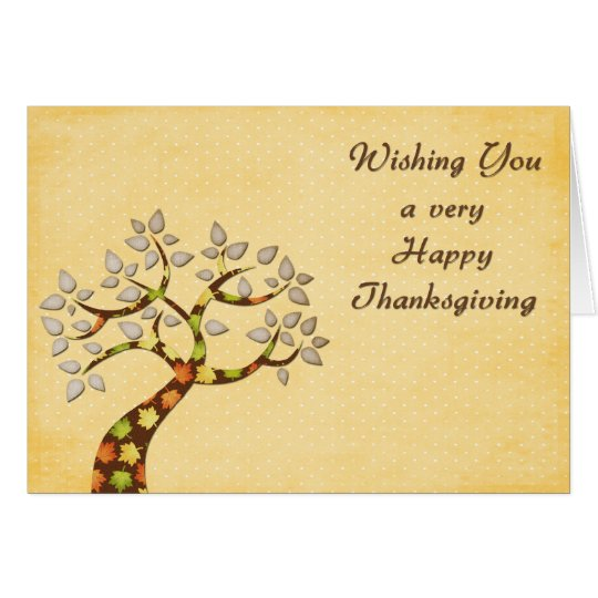 Thanksgiving Autumn Tree Card