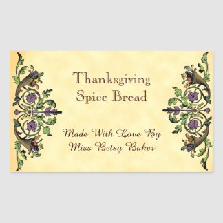 Thanksgiving Baking Custom Cornucopia Sticker