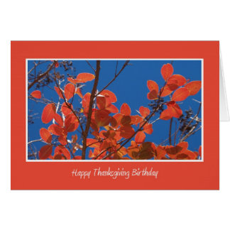 Thanksgiving Birthday -- Autumn Leaves Card
