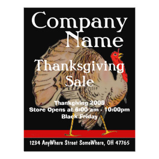 ThanksGiving Black Friday Sale Flyer