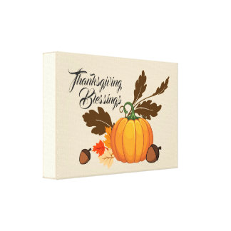 Thanksgiving Blessings Still Life Canvas Print