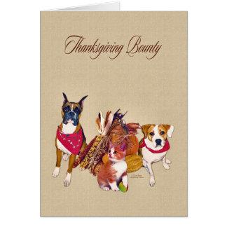 Thanksgiving Bounty Card