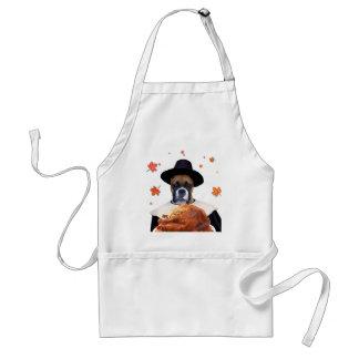Thanksgiving Boxer Dog apron