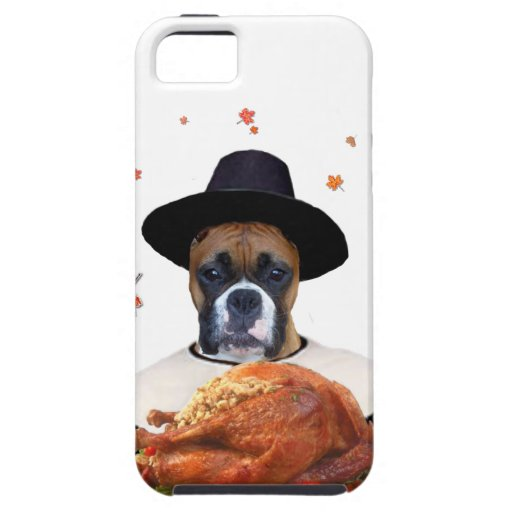 Thanksgiving boxer dog iPhone 5 covers
