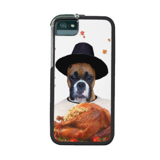 Thanksgiving Boxer dog iPhone 5/5S Covers