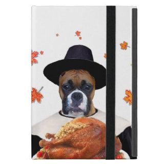 Thanksgiving Boxer dog iPad Mini Cases