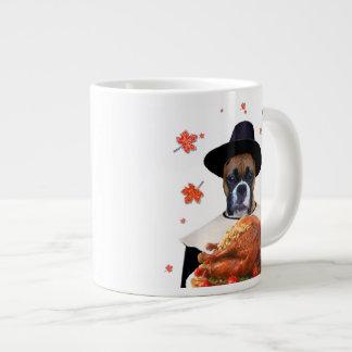 Thanksgiving Boxer Dog Jumbo Mug