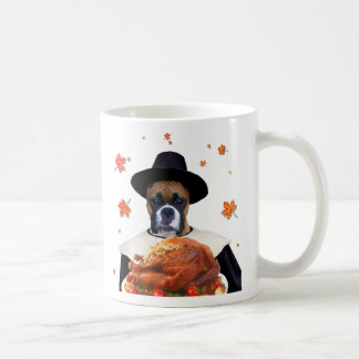 Thanksgiving Boxer Dog Mugs