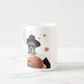 Thanksgiving Boxer Dog Porcelain Mug
