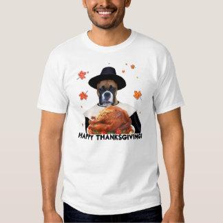 Thanksgiving Boxer Dog T-shirt