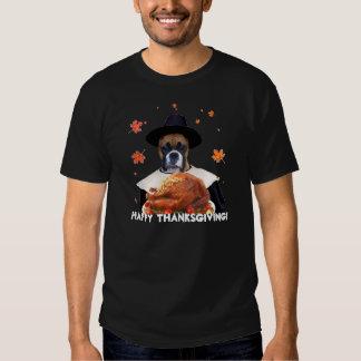 Thanksgiving Boxer Dog Tshirts