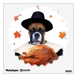 Thanksgiving Boxer dog Wall Sticker