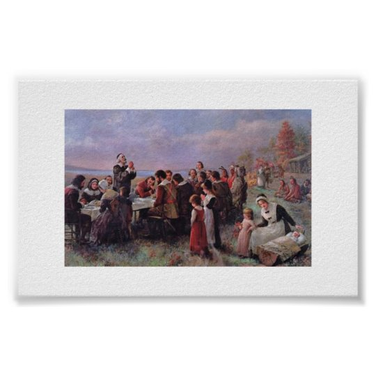Thanksgiving Brownscombe Vintage Poster