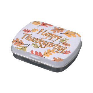 Thanksgiving Candy Tins