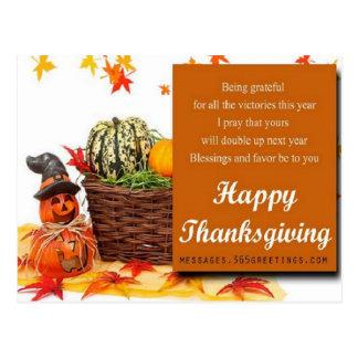 Thanksgiving Card 2014 Postcard