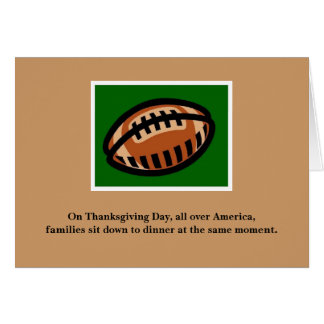 Thanksgiving Card for Football Fans