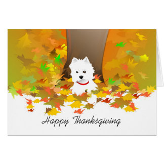Thanksgiving Card - Happy Thanksgiving Westie