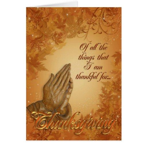 Thanksgiving Card Praying hands