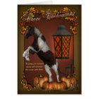 Thanksgiving Card With Horse & Pumpkins