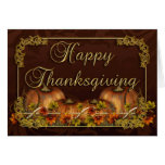 Thanksgiving Card With Pumpkins