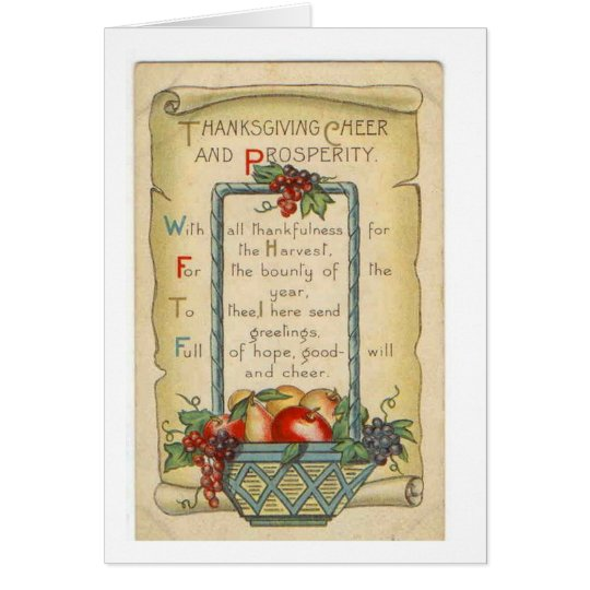 Thanksgiving Cheer & Prosperity, Card